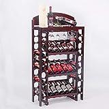 35 Botella Armario para Vinos Piso De Pie Libre del Estante