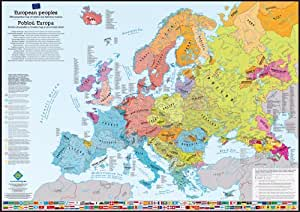 Carte murale peuples d'Europe