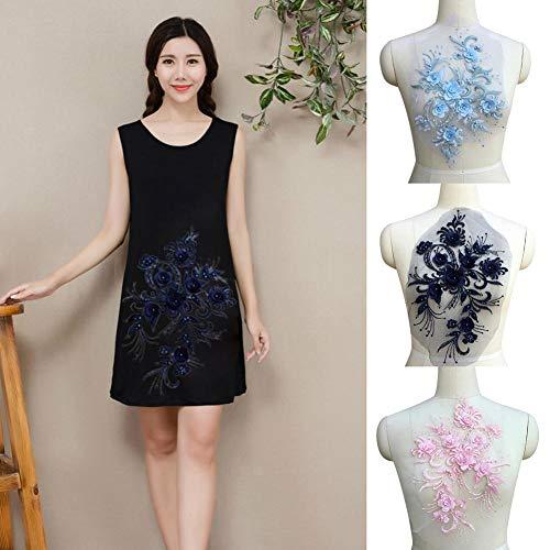 Blossomer DIY Kleid Zubehör Spitze Applique Beading3D Lace niedriger