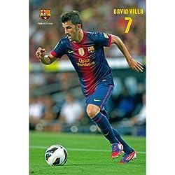 F.C. Barcelona Poster David Villa 86