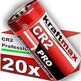 kraftmax 20er Pack CR2 Lithium Hochleistungs- Batterie für professionelle Anwendungen Generation