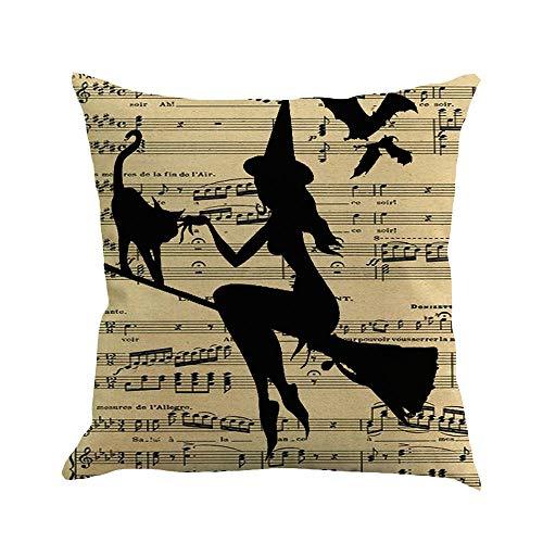 (VEMOW Halloween Dekoration 4 STÜCK Home Auto Bett Sofa Dekorative Brief Kissenbezug Kissenbezug 45 * 45cm(Mehrfarbig B, 45 * 45cm))