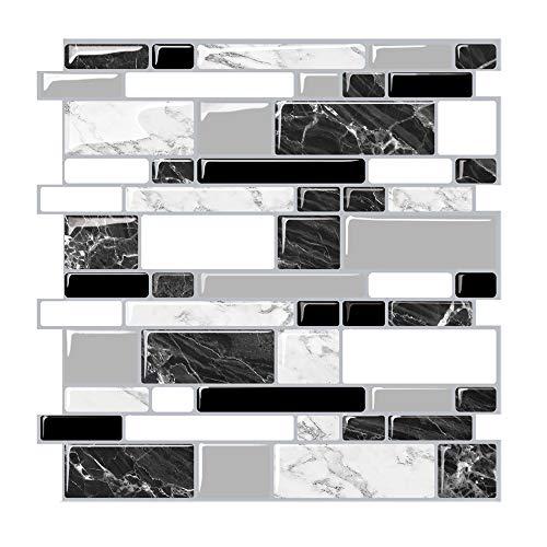 Tic Tac Tiles Peel CHPS et bouchon Carreaux muraux dans la conception du m/étro 10 10 x 10 m/étro Blanc