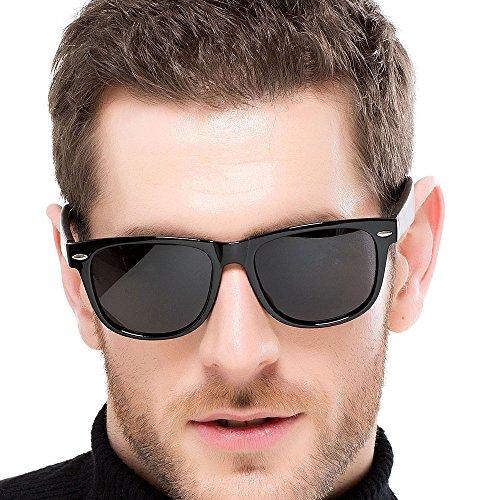 FLY HAWK Sonnenbrille aus Echtholz Holzbrille Gläser Holzbügel Herren Damen Brille UV400 Schutz TAC Polarisierte Linse Sunglasses in vielen Farben