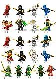 Ninjago 1Set Kuchen Party steht auf, essbares Wafer Karte X21Stücke BB