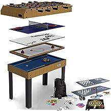 Riley - Table de Jeu pliable 4 en 1 - 12 jeux intégrés   air hockey 857844c0417a