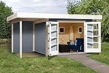 Weka 126.3024.45101 Designhaus 126 A Gr.2, grau, 28 mm, DT, Anbau 150 cm, ohne RW Außemmaß:500 x 314 x 226