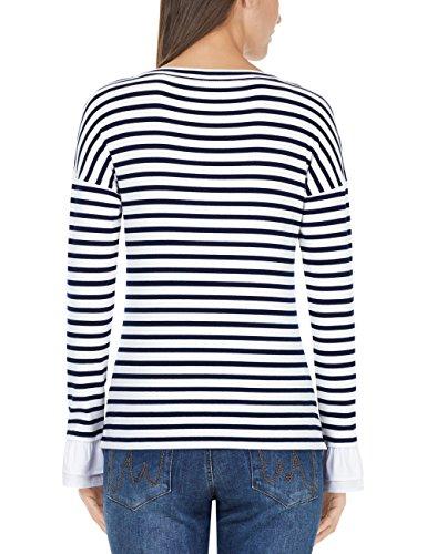 Marc Cain Sports Damen Langarmshirt T-Shirt Mehrfarbig (Midnight Blue 395)