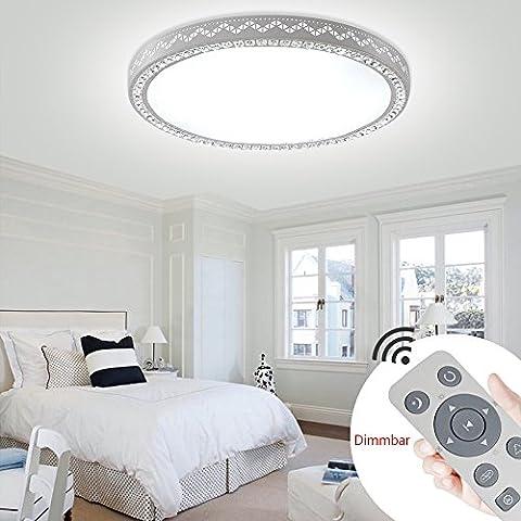 YESDA LED 60W Rund Lampe Kristall Deckenleuchte Runden Dimmbar Wandlampe