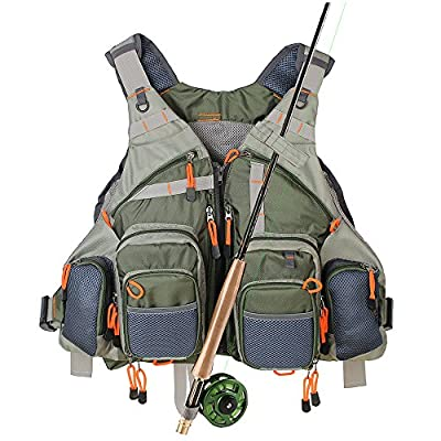 KyleBooker Fly Fishing Vest for Anglers Mesh Adjustable Size for Men and Women by KyleBooker