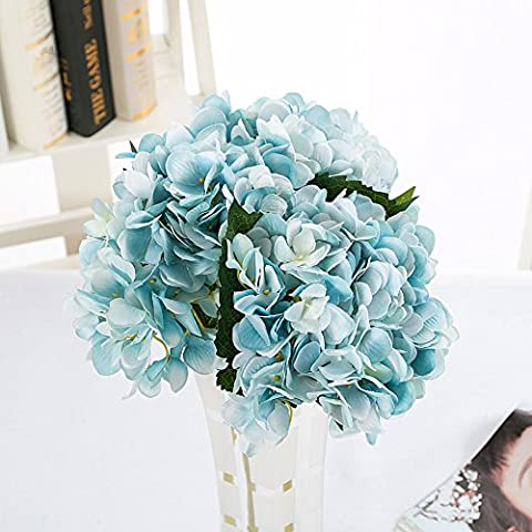 YSBER 3 Big Heads Bouquet Artificial Hydrangea Flower Fake Flowers Wedding Hold Flowers Party Garden Table Decor