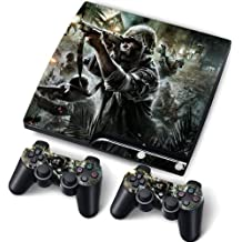 PS3 Slim Designfolie Sticker Skin Set für Konsole 2 Controller by Funky (Soldier)