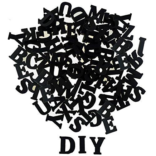 Vintage Holzbuchstaben Buchstaben aus Holz Alphabet ABC 81 tlg. (156 tlg schwarz)