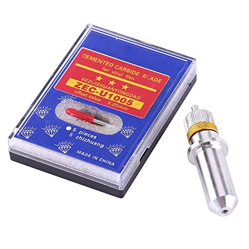 Tungsten Steel Plotter Cutter Klinge,Wolfram Stahl Plotter Cutter Klinge Schneidwerkzeug 30, 45, 60 Grad mit Halter,Hohe Präzision verschleißfest und langlebig,15 stücke