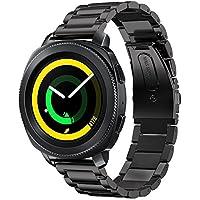 Samsung Gear Sport Pulseras,Sundaree Metal Acero Inoxidable Reemplazo Correas Banda Pulseras de Repuesto Correa de Reloj Inteligente Smartwatch para Samsung Gear Sport SM-R600 (Sport Black)