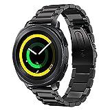 Samsung Gear Sport Bracelet,Sundaree Bracelet de Remplacement Bande de Poignet en Acier Inoxydable Métal Pour Samsung Gear Sport SM-R600(Sport Black)