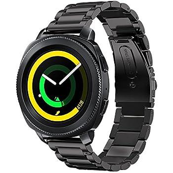 Aresh pour Samsung Sm-r600 Gear Sport accessoire Band, Acier inoxydable solide en acier