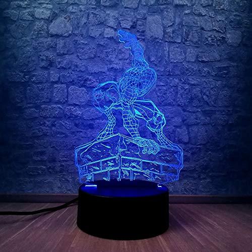 wangZJ Lámpara de ilusión 3d / luz de noche led / 7...