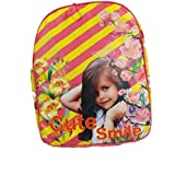 Girls School Bags Back Pack Trendy And Stylish Cute Smile And Spongebob Characters In Pink & Yellow Color.
