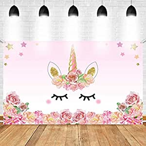 Party Propz Unicorn Theme Birthday Decoration Backdrop-4Ft by 3Ft for Girls Party Decor/ Girl Bday Decoration/Wall Decoration,Backdrops,Magical Decorations Premium Quality Exclusive Product