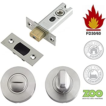 Polished s/s Bathroom Door Thumb Turn Lock deadbolt ...