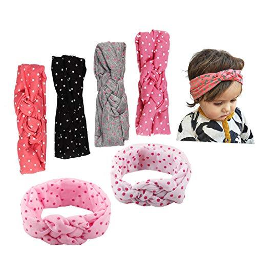 JMITHA Baby Stirnbänder verknotete Baby Stirnband Baby Top Knot, Baby Turban, Mädchen Headwrap Knot Stirnband Kleinkind Stirnband Vor Ort Kaninchenohren Knit Head wraps (04)