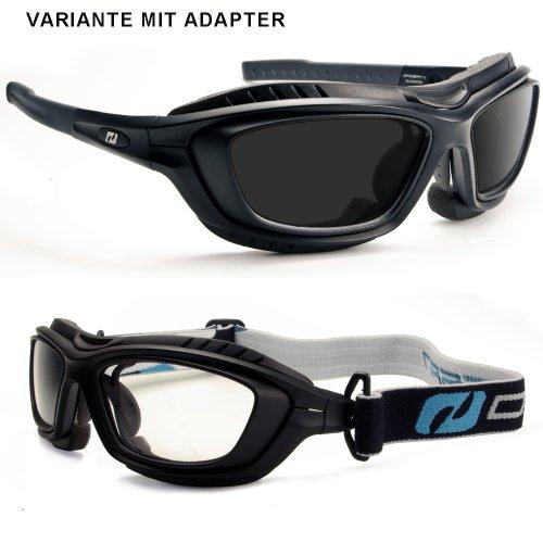 Daisan Sportbrille mit Brillenträger Adapter für Verglasung in Sehstärke