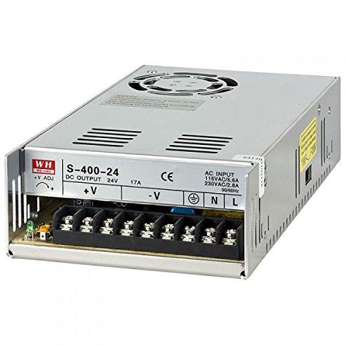 NuNus Netzteil Trafo Schaltnetzteil - 24V 16.5A 400W für 3D Drucker , LED Beleuchtung Stripes , Industrieanlagen, Überwachungskameras uvm... 16 Output Fuse