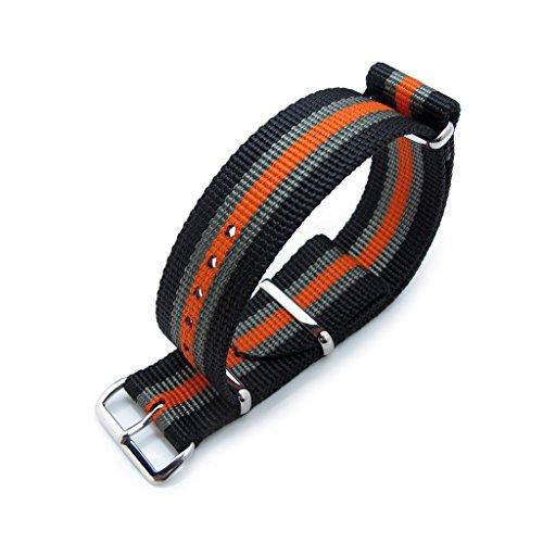 miltat-22-mm-g10-nato-bullet-coda-cinturino-spesso-pvd-nero-grigio-orange