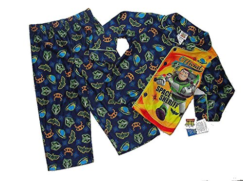 TOY STORY Buzz Lightyear Jungen 4T Space Sheriff Flanell Mantel Pyjama Set, PJ'S (Set Mantel Pj)