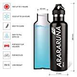 Stainless Steel Vacuum Insulated Bottle 750 ml, Keeps Cold for 24 hours, Hot for 7 hours. Bonus: Sport Flap Lid