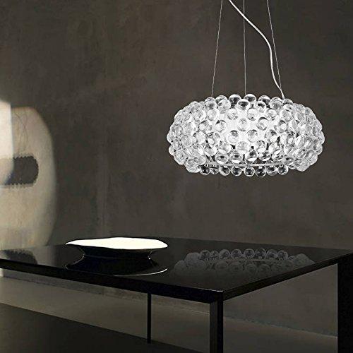 Hengda® 36W LED Hängelampe Modern Acryl Kreative Kronleuchter Weiß Und  Warmweiß Stilvolle Kristall Pendelleuchte Für Wohnzimmer,Esszimmer  [Energieklasse A ...