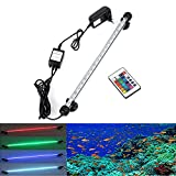 GreenSun LED Lighting luce multicolore LED RGB Remote Controlled acquario sottomarino sommergibile principale impermeabile Aquarium, 38cm