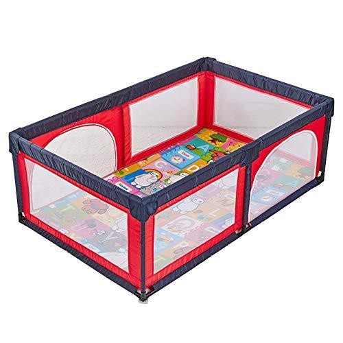 Baby Playard avec Matelas Sécurité Anti-Roulement Toddlers Playpen Centre D'Activités Extérieur Intérieur Chambre De Diviseur (Taille : 120×190cm)