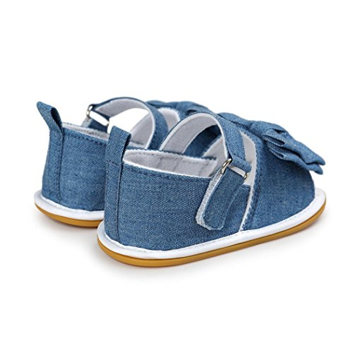 kingko® Baby Bowknot Casual Schuhe Sneaker Anti-Rutsch Soft Sole Kleinkind Blau