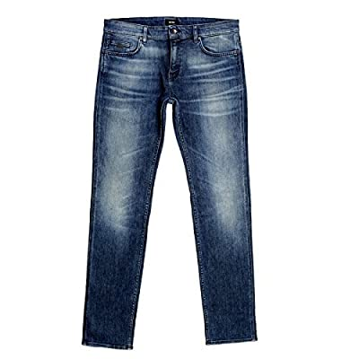 Hugo Boss Slim Fit Stretch Denim stonewashed indigo blue Jeans BOSS5800
