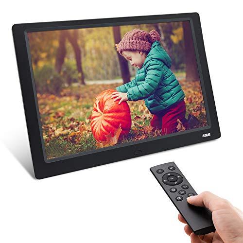 """Digitaler Bilderrahmen, SSA 10.1 """"1280x800 Hochauflösender voller IPS-Foto- / Musik- / Video-Player Kalenderalarm EIN/Aus-Timer, einzigartiges UI-Design mit Fernbedienung"""