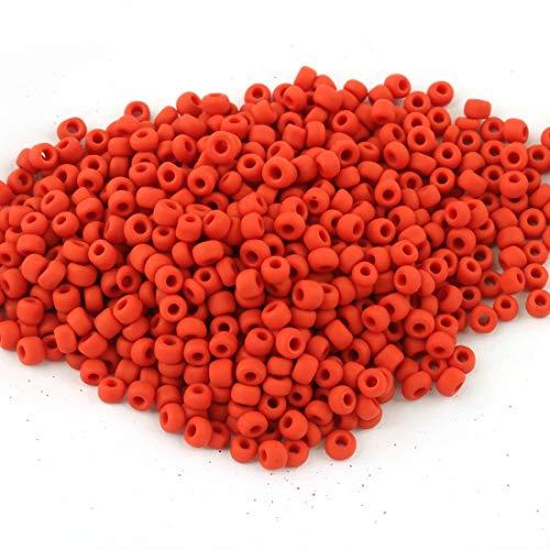 450g Rocailles Perlen 3mm Matt Keramik Rot Glas 15000Stk 8/0 Roccailles, Glass Seed Beads A102 -