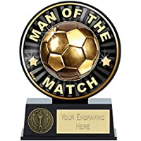 Womack Graphics 5 inch (12.5cm) Vibe Man of the Match Football Resin Trophy Award with Free Engraving upto 50 letters PK141