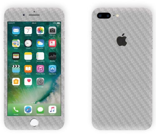 Vcare Gadgets Carbon Silver Texture Skin for Apple iPhone 7 Plus (Skin)