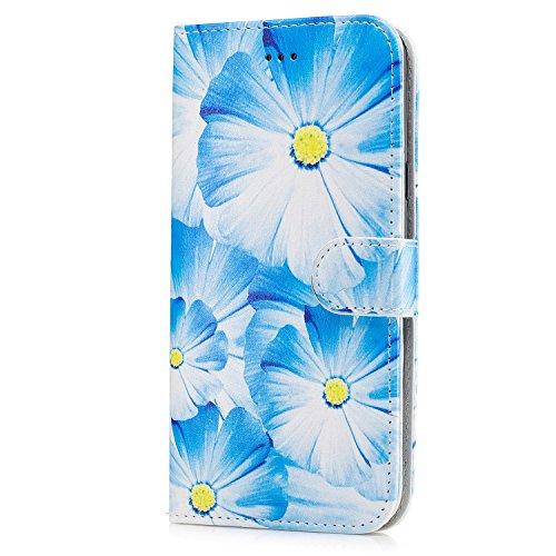 Für Samsung Galaxy J7 Horizontale Flip Case Cover Luxus Blume / Marmor Textur Premium PU Leder Brieftasche Fall mit Magnetverschluss & Halter & Card Cash Slots ( Color : E ) B