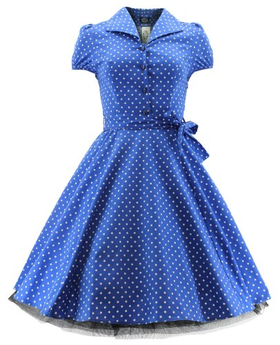 H r & london taille robe robe dOT 6839 Bleu - Bleu