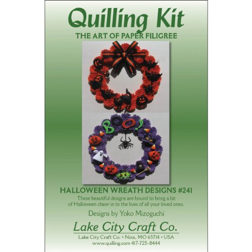 Lake City Craft Papier Quilling Kit Halloween Kränzen