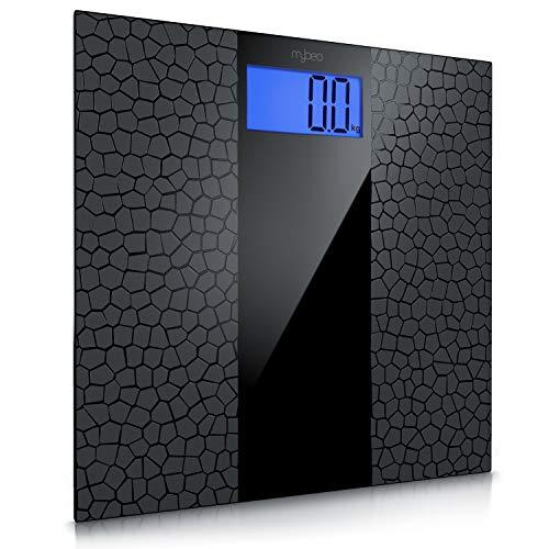 MyBeo - digitale Personenwaage im Slim Design | Körperwaage | Anti-Rutsch Beschichtung | großes LCD-Display, max. 180 kg, Messauflösung 0,1 kg, automatisches Ein- und Ausschalten | weight scale