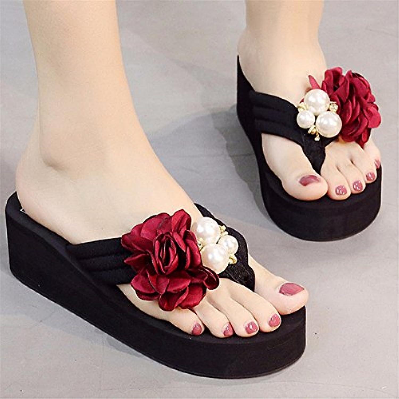 FLYRCX Clip de verano zapatos de moda de damas zapatos de tacón alto AL AIRE LIBRE PLAYA playa resbaladizo dulce... -