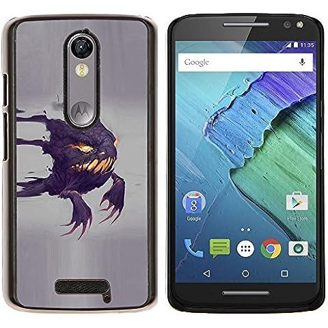 For Motorola Droid Turbo 2 / Moto X Force Case , Divertido Scary Ghost- Diseño Patrón Teléfono Caso Cubierta Case Bumper Duro Protección Case Cover