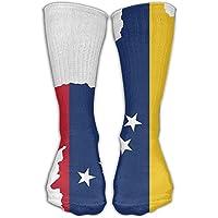 PengYou - Calcetines Finos Transpirables para Hombre y Mujer, diseño de Mapa de la Bandera