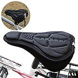 Beito Coprisella Bici 1PC 3D più Spessa Copertura in Silicone Cuscino Pad Gel Confortevole Copertura della Sede della Bici Morbida Copertura della Sella della Bici per La Bici Sedile Stretto (Nero)