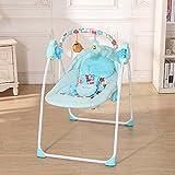 Decdeal Elektrische Babyschaukel Automatische Baby Wiege 3 Schaukelgeschwindigkeit, 12 Melodie, MP3-Player via USB