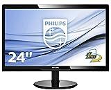 Philips 246V5LHAB/00 61 cm (24 Zoll) Monitor (VGA, HDMI, 1920 x 1080, 60 Hz) schwarz